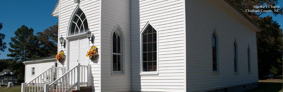 Martha's Chapel in Chatham County, North Carolina