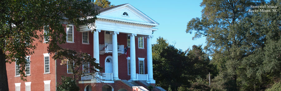 Stonewall Manor in Rocky Mount, North Carolina, was built circa 1830.