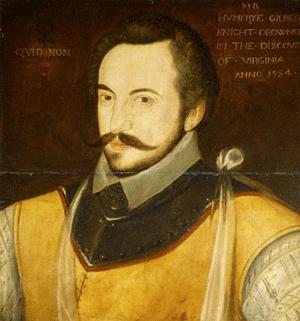 Sir Humphrey Gilbert (c.1539-1583) of Devon in England.